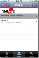 Send free SMS from iPhone with 160by2 app!