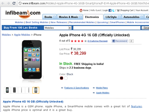 iPhone 4 available in India?