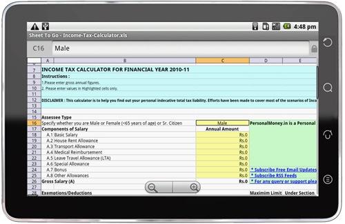 Olivepad-spreadsheet