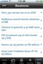 Times of India iPhone app [review]