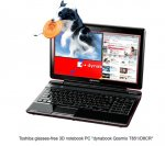 Toshiba Qosmio : World's first 3D Notebook!