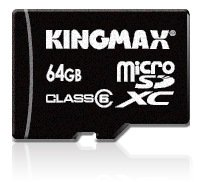 World's first 64GB micro SD card by Kingmax