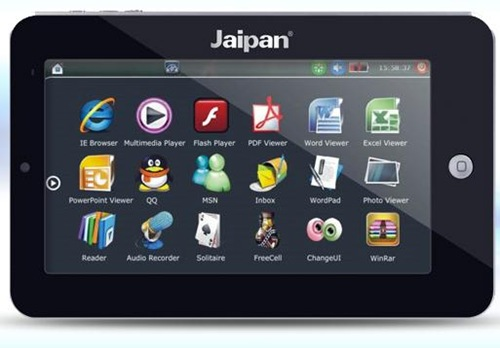 Jaipan launches 2 Tablet PC's : JAVASpad and super slim