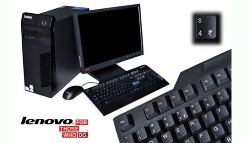 First PC with Indian Rupee symbol, Lenovo M60 E