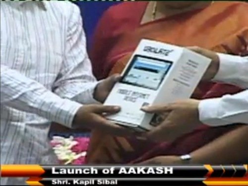 MHRD Aakash Tablet Launch Live Telecast
