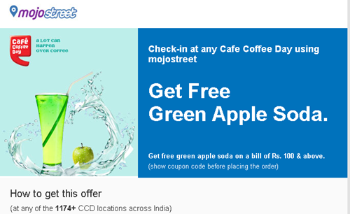 Mojostreet, Coffee Day and a Free Green Apple Soda