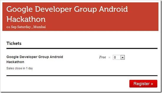 Android Hackathon Mumbai kicks off on Sept 1!
