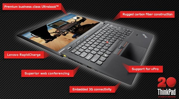 Lenovo launches ThinkPad X1 Carbon Ultra book