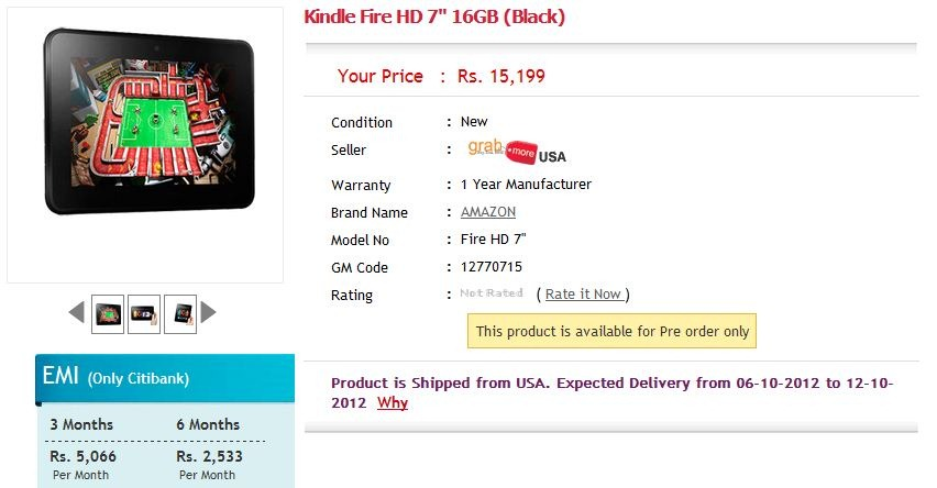 Pre-Order Kindle Fire HD & Kindle Paperwhite in India for Rs. 15.2k & Rs. 9.3k respectively