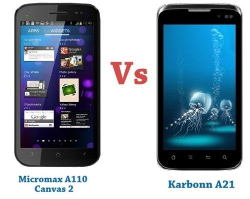 Micromax 110 vs Karbonn A21-001
