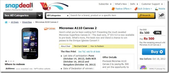 Micromax Preorder