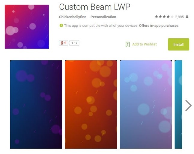 Custom Beam Live