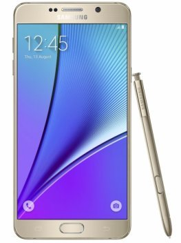 samsung galaxy note 5 front gold