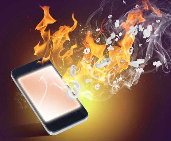 burning phone hot