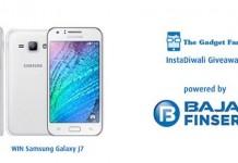 Celebrate #InstaDiwali with Bajaj Finserv and TheGadgetFan To Win a Samsung Galaxy J7