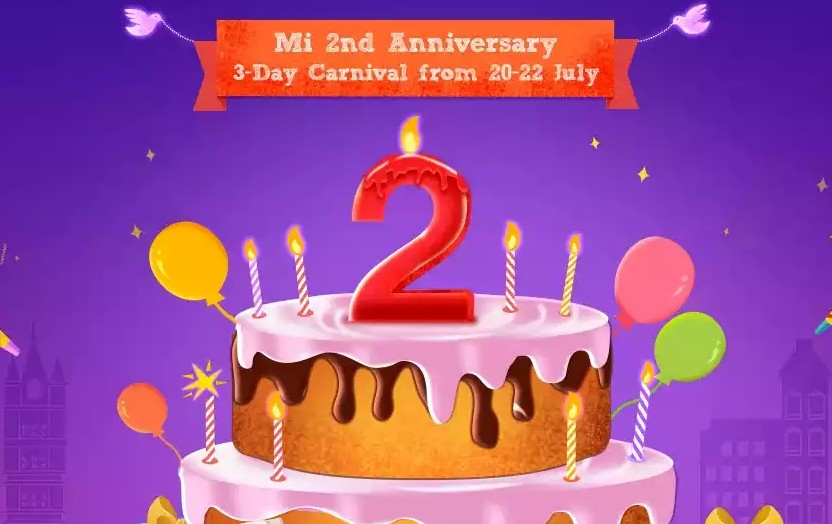 Mi Anniversary 3 Day Carnival Starting From 20 July. Mi 5, Note 3, Mi Max @ Rs. 1