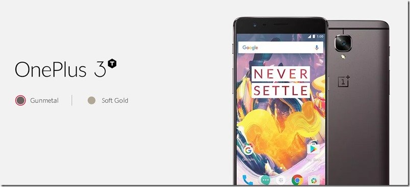 "Now, An All New OnePlus 3T in ""Soft Gold"""