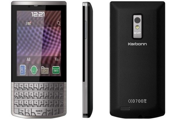 karbonn a100- Android QWERTY Keypad Phones