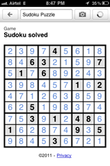 iPhone app : Google Goggles to solve Sudoku!