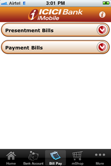 ICICI Bank iPhone, Android app review