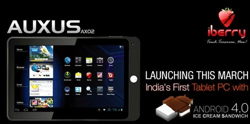iBerry Auxus AX02 : India's first Android 4.0 tablet