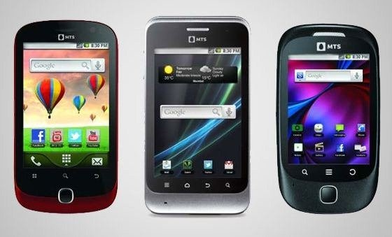 MTS Launches 3 new budget Android 2.3 CDMA Phones