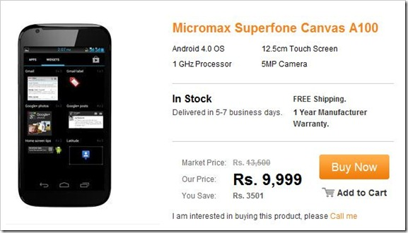 Micromax's A84, A90 and A100 launch / price?