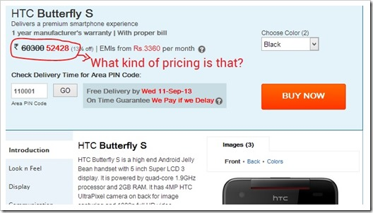 HTC Ridiculously Prices Butterfly S at Rs. 52000!
