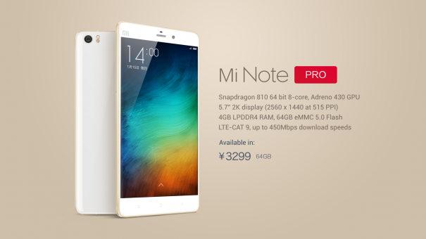 Xiaomi Mi Note Pro main