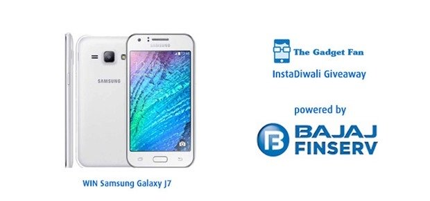 Celebrate #InstaDiwali with Bajaj Finserv and TheGadgetFan To Win a Samsung Galaxy J7